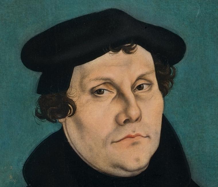 Martin Luther als Gelehrter, 1528, Gemälde von Lucas Cranach d. Ä.