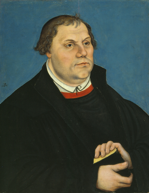 Luther-Porträt von Lucas Cranach im Luther-Zimmer der Veste, um 1546