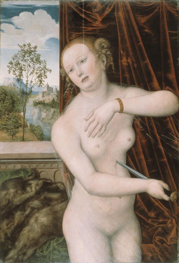 Der Selbstmord der Lucretia (um 1518) zeigt den Einfluss venezianischer Kunst auf Lucas Cranach d.Ä.