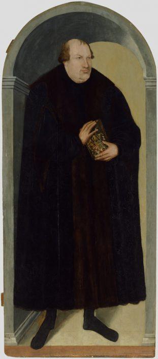 """Lucas Cranach d. J. (1515–1586), Georg III. von Anhalt, genannt """"der Gottselige"""" (1507–1553), 1575, Öl auf Lindenholz"""