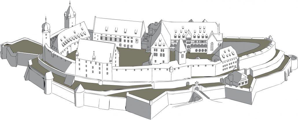 Veste Coburg - Zeichnung/Grafische Darstellung