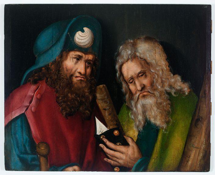 Werkstatt Lucas Cranach d.Ä., Apostel Jakobus d.Ä. und Andreas, Fragment eines Altarflügels, um 1513