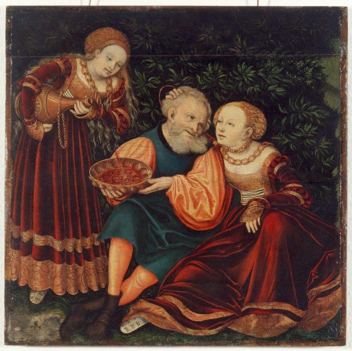 Lucas Cranach d.Ä., Lot und seine Töchter, 1528