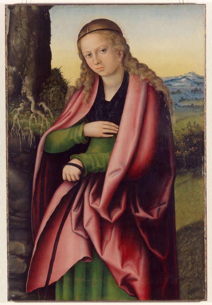 Lucas Cranach d.Ä., Hl. Margareta, Fragment eines Altarflügels, um 1513–14