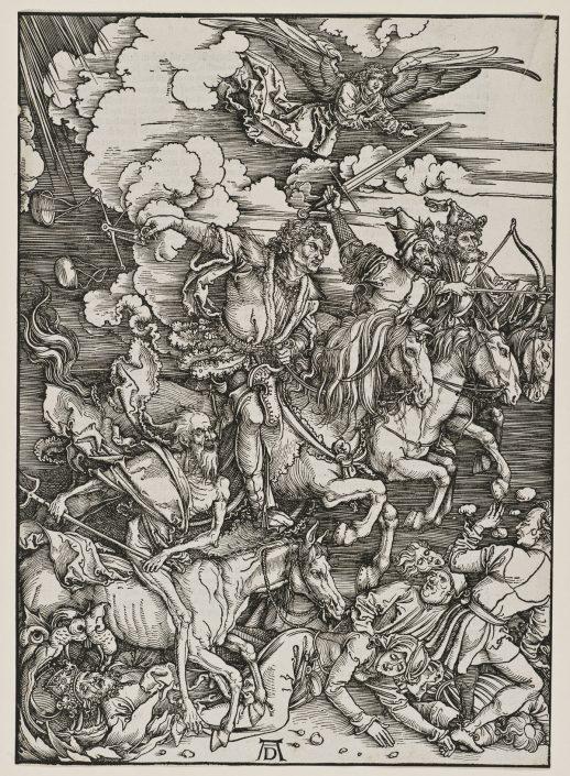 Albrecht Dürer, Die vier apokalyptischen Reiter, Holzschnitt, 1498