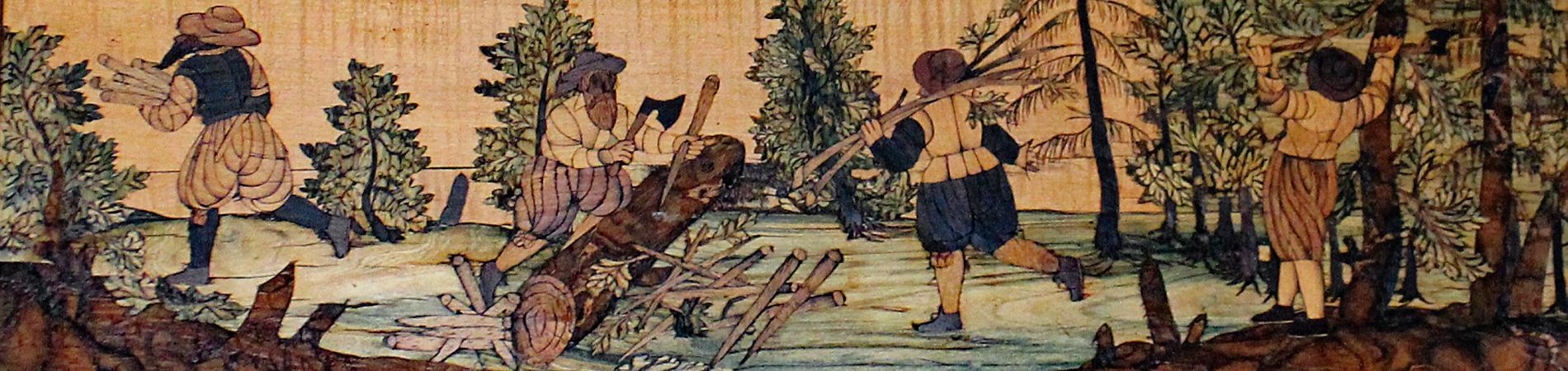 Detail aus dem Jagdintarsienzimmer, Veste Coburg