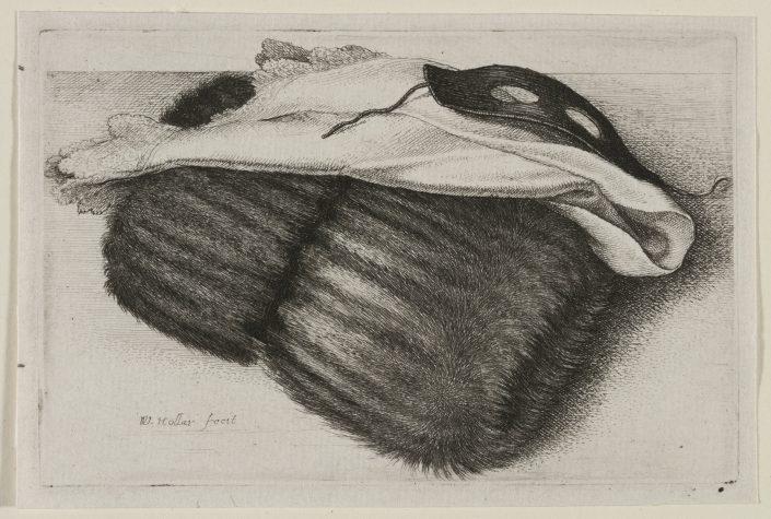 Wenzel Hollar, Muff und Maske, Radierung, 1647