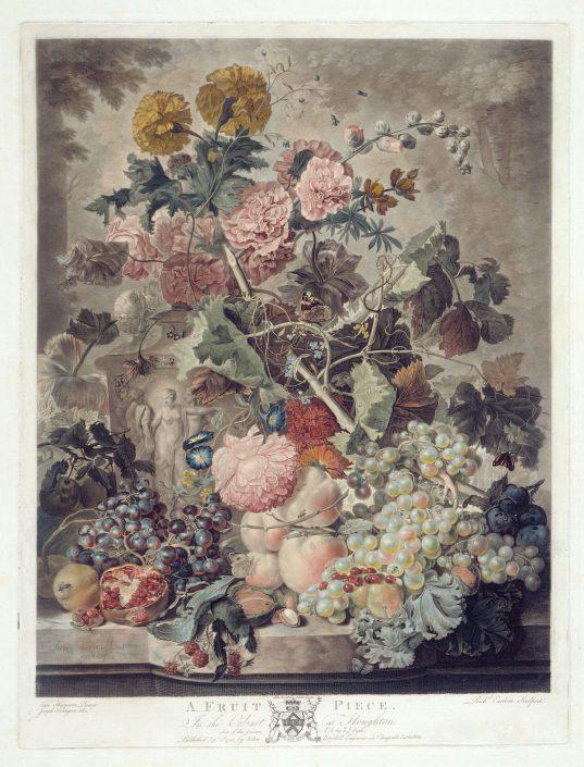Richard Earlom, A Fruit Piece, Schabkunst, Radierung und Aquatinta, 1781
