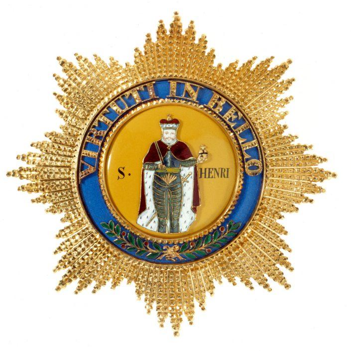 Königlich Sächsischer Militär-St. Heinrichsorden, Bruststern, 19. Jh., Gold und Email