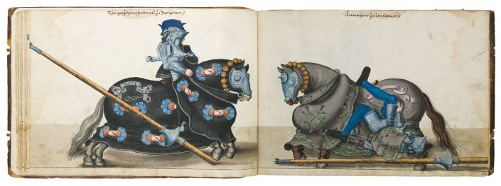 Lukas Cranach d.Ä., Werkstatt, Turnierbuch Herzog Johann Friedrichs des Großmütigen, um 1540