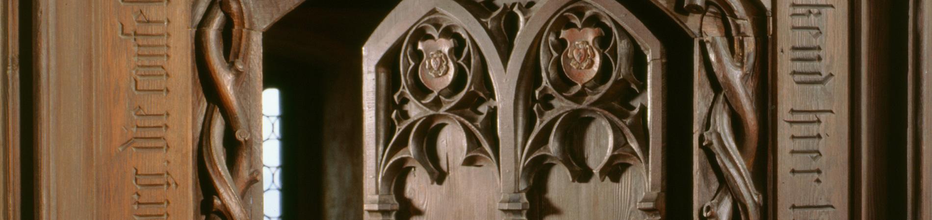 Tür zu den Lutherzimmern der Veste Coburg