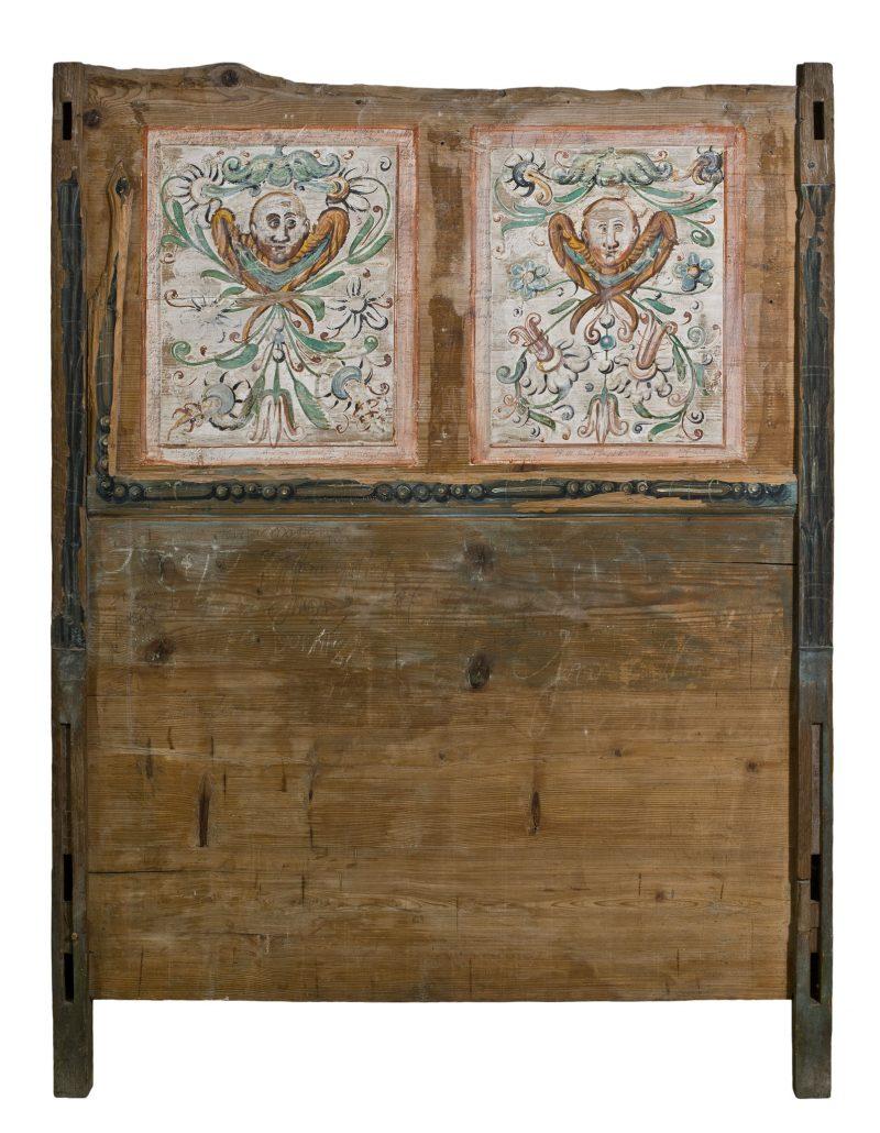 Kopfteil des so genannten Luther-Bettes der Veste, 17. Jahrhundert