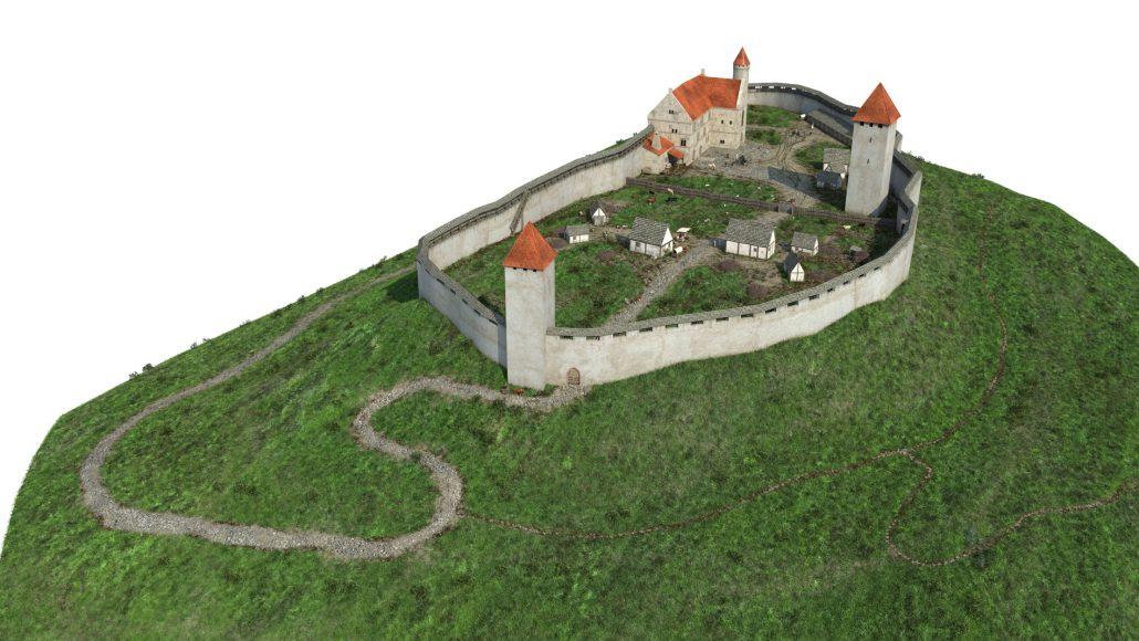 Die Burganlage um 1250