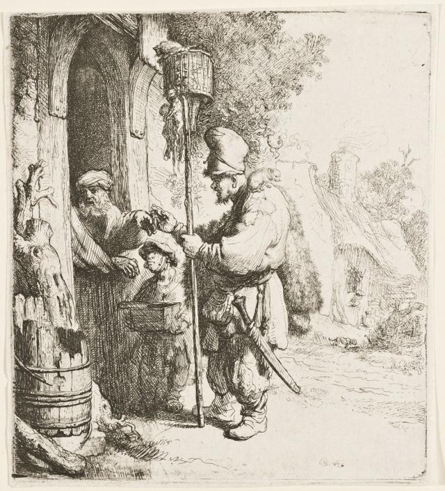 Der Rattengiftverkäufer (Der Rattenfänger), 1632 Radierung, mit Spuren von Grabstichel, Inv.-Nr. VII,378,138