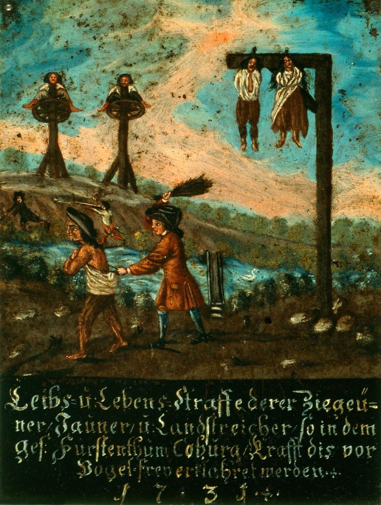 Warntafel/ Vogelfrei-Erklärung, Coburg, 1731