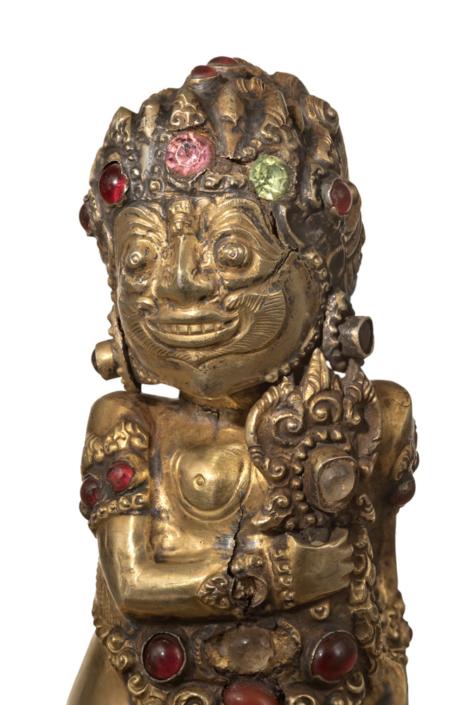Detail eines Krisgriffes in Gestalt des Windgottes Batara Bayu, Inv.-Nr. SUW.136