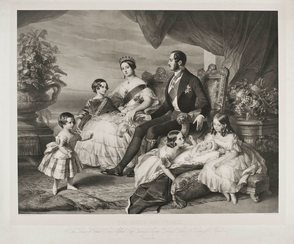 Alphonse Léon Noël (1807–1884) nach Franz Xaver Winterhalter (1805–1873) Die königliche Familie im Januar 1847,