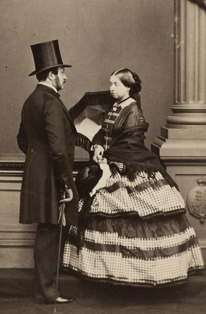 John Jabez Edwin Mayall (1813–1901), Königin Victoria und Prinz Albert, 1861 Fotografie im Format Carte de Visite Kunstsammlungen der Veste Coburg, Inv.-Nr. F.3863