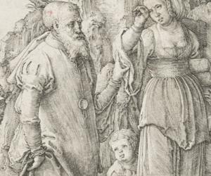 Lucas van Leyden, Die Vertreibung der Hagar, 1516