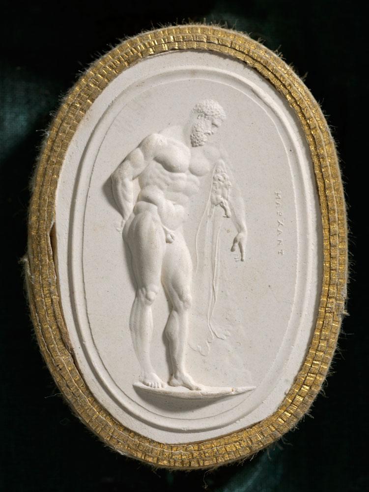 Nathaniel Marchant: Gemmenabdruck mit Darstellung des Herkules Farnese, 1792