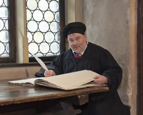 Gästeführer Christoph Liebst als Martin Luther