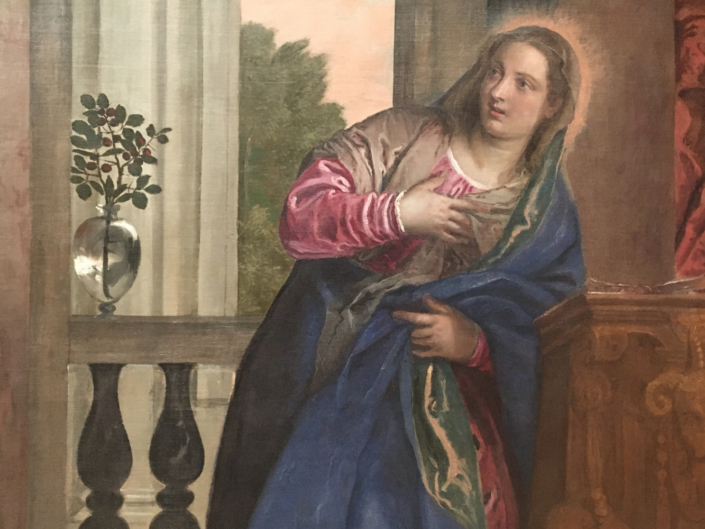 Paolo Veronese: Verkündigung an Maria, Detail; Foto: Venedig, Gallerie dell' Accademia
