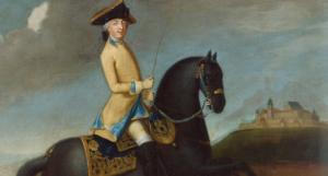 Prinz Friedrich Josias von Sachsen-Coburg-Saalfeld (1737-1815) zu Pferd