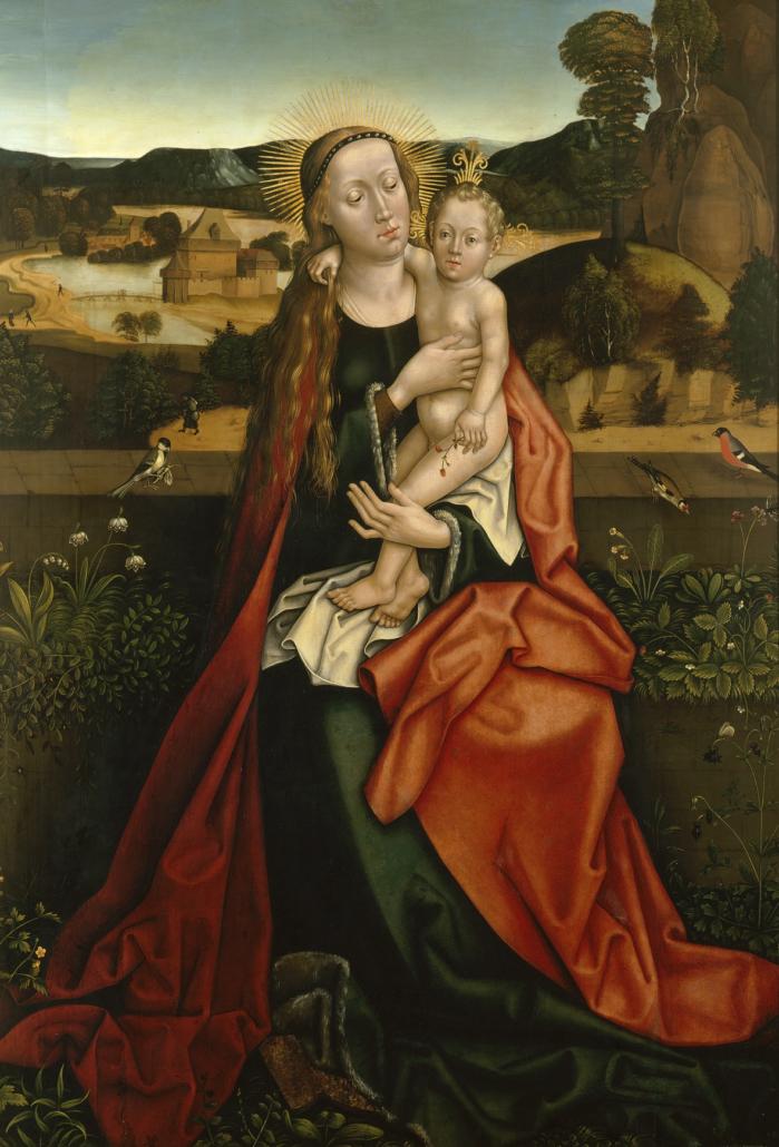 Hans Burgkmair d. Ä. (1473 - 1531) Maria mit Kind auf der Rasenbank, kurz vor 1500 Inv.-Nr. M.412
