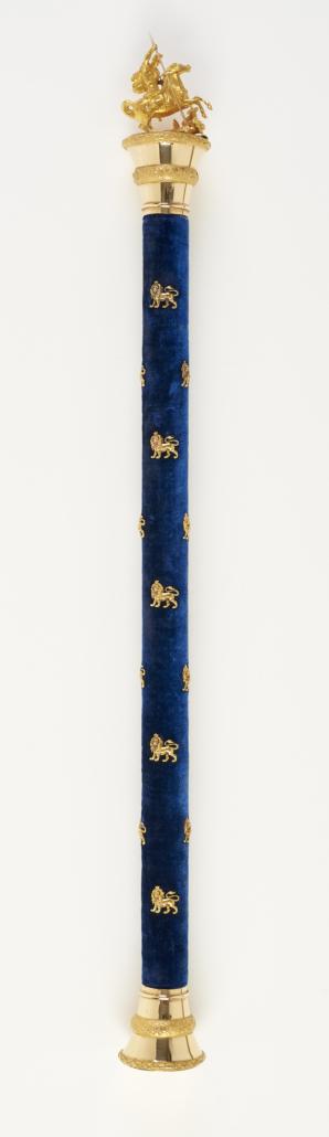 Ein wertvolles Geschenk: Der Flottenadmiralsstab für Herzog Alfred.