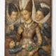 Henry Cros (1840 – 1907), Die drei Zauberinnen, 1881, Relief, farbiges Wachs mit Einlagen aus farbigem Glas und Ergänzungen in Ölmalerei, 48 cm x 33 cm x 6 cm Inv.-Nr. Pl.194, Kunstsammlungen der Veste Coburg