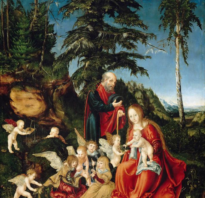 Lucas Cranach d.Ä., Ruhe auf der Flucht nach Ägypten, 1504, Gemäldegalerie Berlin