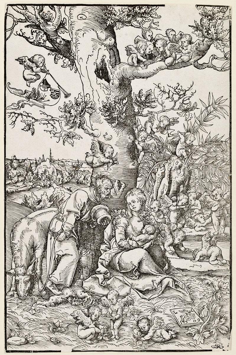 Lucas Cranach d. Ä., Ruhe auf der Flucht nach Ägypten, 1509, Foto: Kunstsammlungen der Veste Coburg