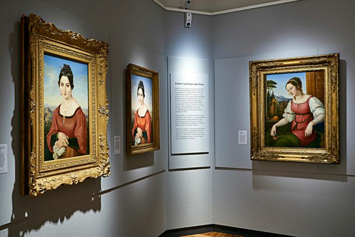 Bilder Italiens. Die römischen Schönheiten Fortunata Segadori und Angelina Magatti, gesehen von Friedrich Müller und Wilhelm Schadow (Foto: Kunstsammlungen der Veste Coburg)