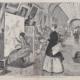 Winslow Homer: Kunststudentinnen und Kopisten in der Galerie des Louvre, 1868, Holzstich, 23 x 35 cm, aus: Harper's Weekly 12 (1868). New York, The Metropolitan Museum of Art.