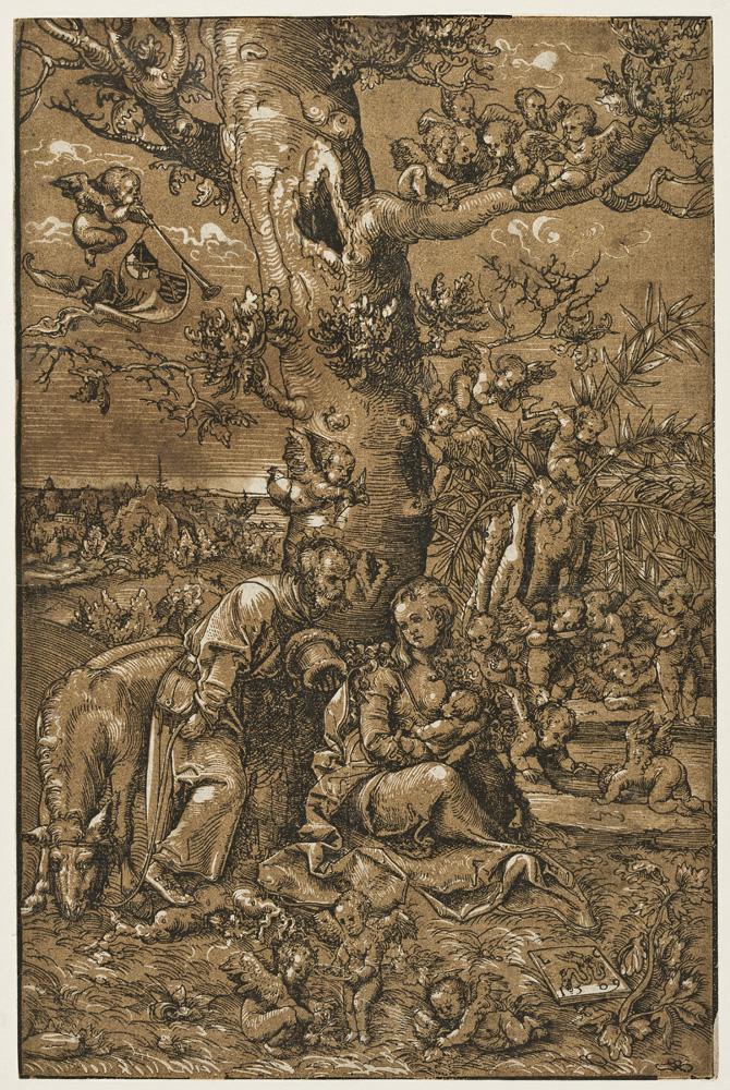 Lucas Cranach d. Ä., Die Eltern Jesu in Ägypten (Ruhe auf der Flucht nach Ägypten), 1509