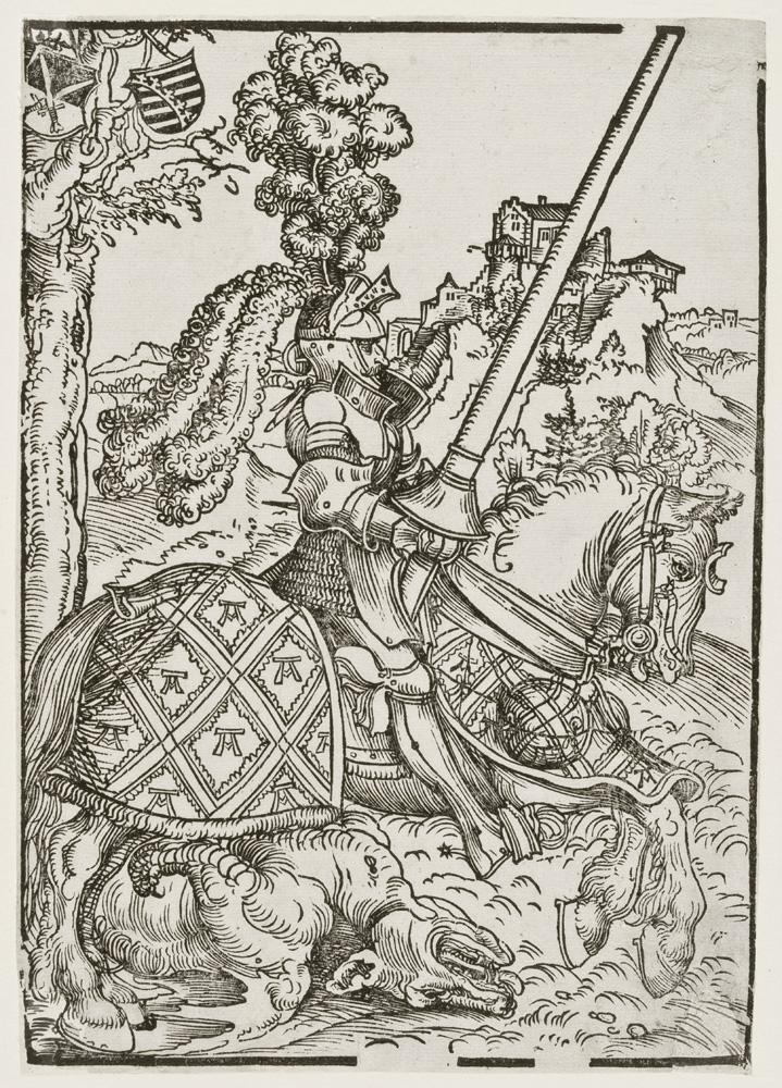Lucas Cranach d. Ä., Heiliger Georg zu Pferd mit dem toten Drachen, um 1507