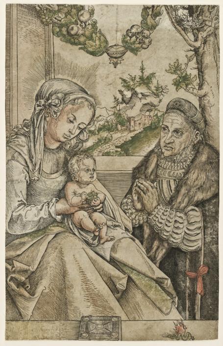 Lucas Cranach d. Ä., Kurfürst Friedrich der Weise von Sachsen vor der Madonna mit Kind kniend, um 1512 – 1515