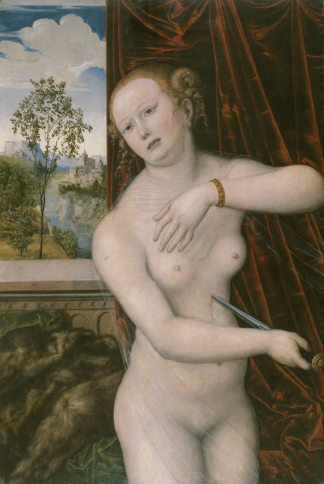 Lucas Cranach d. Ä., Der Selbstmord der Lucretia, 1518-1519