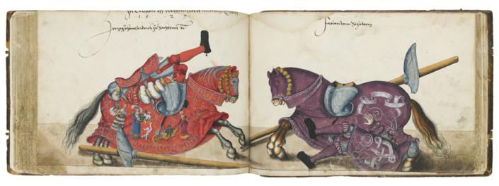 Lucas Cranach d. Ä. (1472 - 1553), Schule, Turnierbuch Johann Friedrichs I. des Großmütigen, Kurfürst von Sachsen, 1521 - 1534